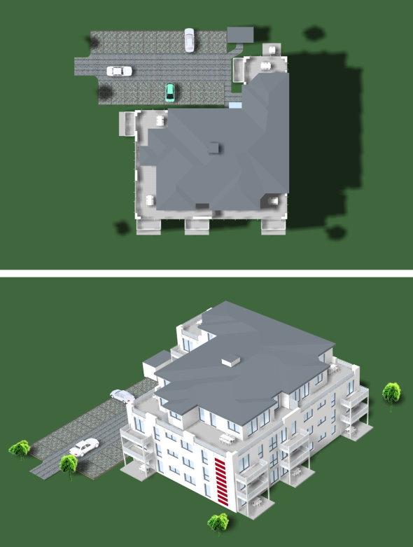 Außenansicht Gebäude (oben)